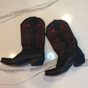 Durango Black and Red Cowgirl Boots